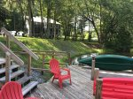 Dock to lake w/ canoe, just steps from Villa