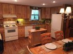 Ample kitchen for cooking