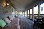 screened porch views of lake and sunrises