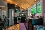 Stainless appliances and counter tops