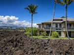 Big Island of Hawaii... Lava rock surrounding the villa on the golf course.
