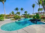 Golf Villa luxurious large size swimming pool, Hawaiian foliage providing privacy as you enjoy the pool and spa