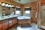 Master Bathroom with Double Sink and Jetted Tub