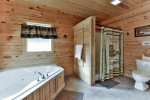 Master Bathroom`s Jetted Tub and Shower