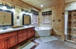 Master Bath with Double Sink and Jetted Tub