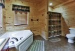 Master Bath with Jetted Tub and Full Size Shower