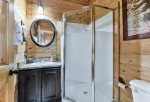Includes Private Bathroom with Stand-up Shower on Lower Level