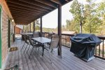 Lower Deck Includes Patio Furniture, Grill, and Hot Tub