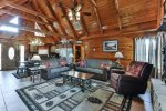 High Ceilings and Lots of Sunlight In This Beautiful Cabin