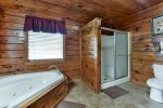 Jacuzzi Tub and Stand-up Shower