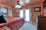 Queen Sized Bedroom with Deck Access