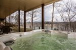 Sit In the Hot Tub and Enjoy Lake Views