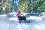 There are companies and trails in our area if you feel like snowmobiling.