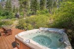 This private hot tub is a great place to unwind after a day of fun-filled outdoor activities