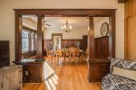 Gorgeous craftsman`s interior has some stories to tell.
