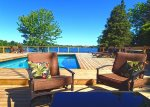 Private PEC family-friendly swimmable waterfront with heated pool, kayaks and canoe