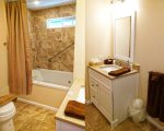 Newly Renovated bathroom with Oversize soaker tub