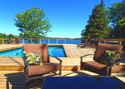 Private waterfront escape with Heated Pool