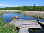 Paddle Black River or sunbathe on the dock