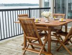 Lots of space to lounge on the deck - shared with guests at other cottage