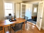 Open the Large french doors into the dining room