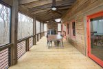 Screened in Porch/ Outdoor dining/ Outdoor Fireplace