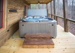 Hot tub on Open Deck of Lower Level