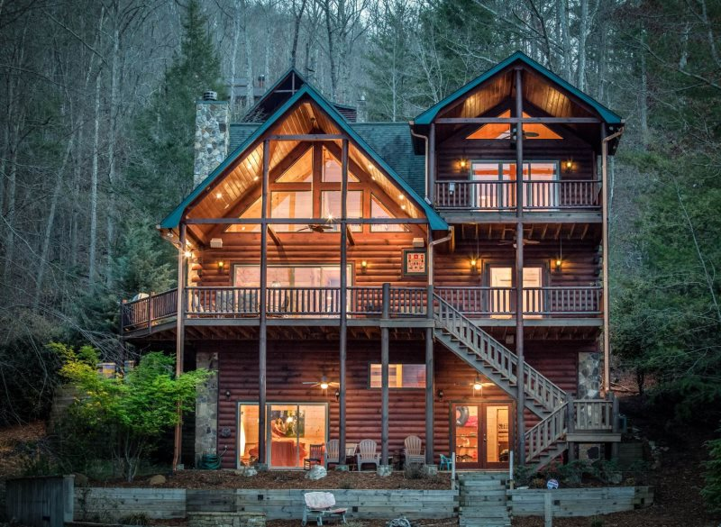 Lakefront Luxury Cabin Vacation Rental, Blue Ridge, Ga-6958