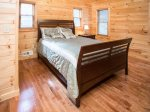 2nd Queen Bedroom on Upper level of cabin