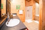 spacious bathroom - upper level