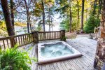 Hot tub overlooking Lake Blue Ridge