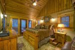 Master Bedroom with deck overlooking Toccoa River