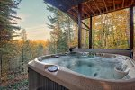 Enjoy a view from the hot tub