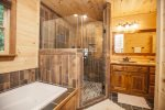Entry Level: Master Bath w/ Large walkin corner shower