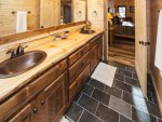 Entry Level: Master Bath w/ Large double bowl vanity