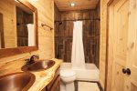 Terrace Level Shared bath w/ double bowl vanity
