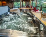 Enjoy the hot tub with no bugs, screened area