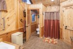 Master bath also has a walk-in shower