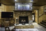 Terrace Level Family Room w/ Gas Log Fireplace