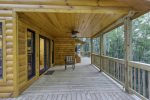 Large expansive deck with out door seating