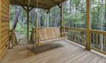 Terrace Level deck with swing