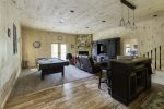 Terrace Level family room with wet bar and pool table