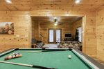Pool table in terrace level