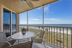 Beach Villas #302 | Gorgeous Sunset from Screened Lanai Every Night! Beachfront Heated Pool & BBQ Grills!