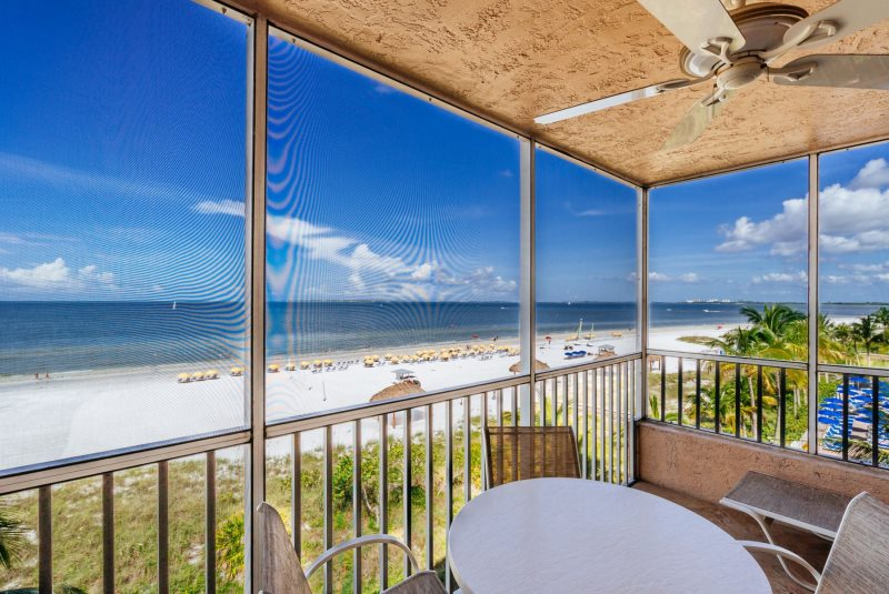 aff99a24d Estero Island Beach Villas 405 Fort Myers Beach Accommodations Florida FL  Beachfront Condo Vacation Rental with Heated Pool BBQ Grills Screened Lanai  ...