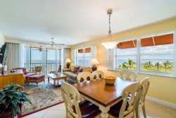 Beach Villas #406 | Luxury Double Balcony End Unit! Beachfront Condo with Heated Pool! Excellent Location