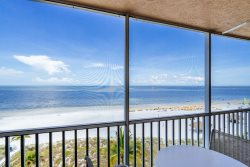 Beach Villas #603 | Smell the Salty Air! Beachfront Condo with Screened Lanai Near Times Square!