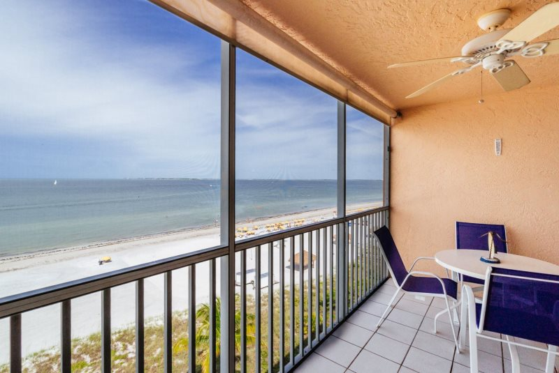 b0e8fe267 Estero Island Beach Villas 702 Fort Myers Beach Accommodations Florida FL  Beachfront Condo Vacation Rental with Heated Pool BBQ Grills Screened Lanai  ...