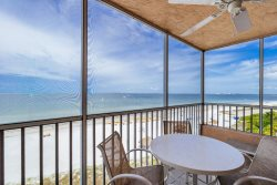 Beach Villas #704 | WOW Sunset Views! Top Level Luxury Beachfront Condo with Heated Pool