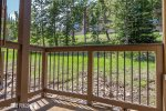 Front Porch with Scenic Views of Andesite Mtn. & Seating for 3